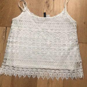 White (h&m) blouse
